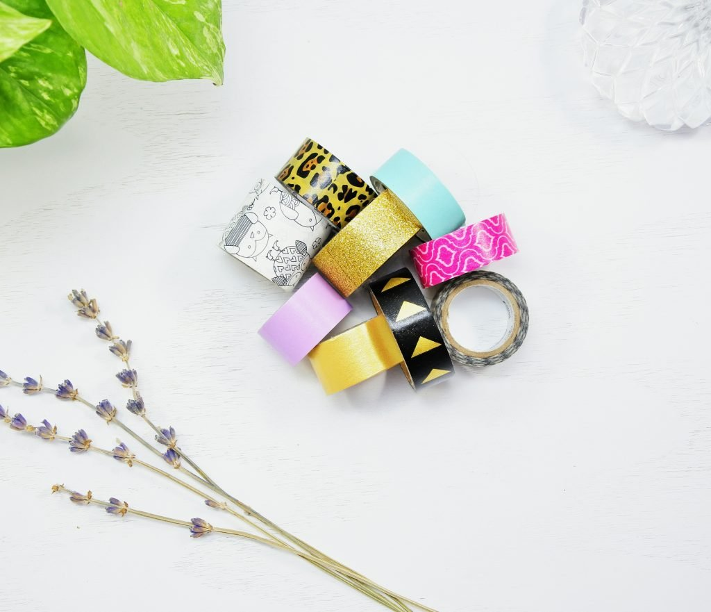 a collection of washi tape is a great bullet journal supply