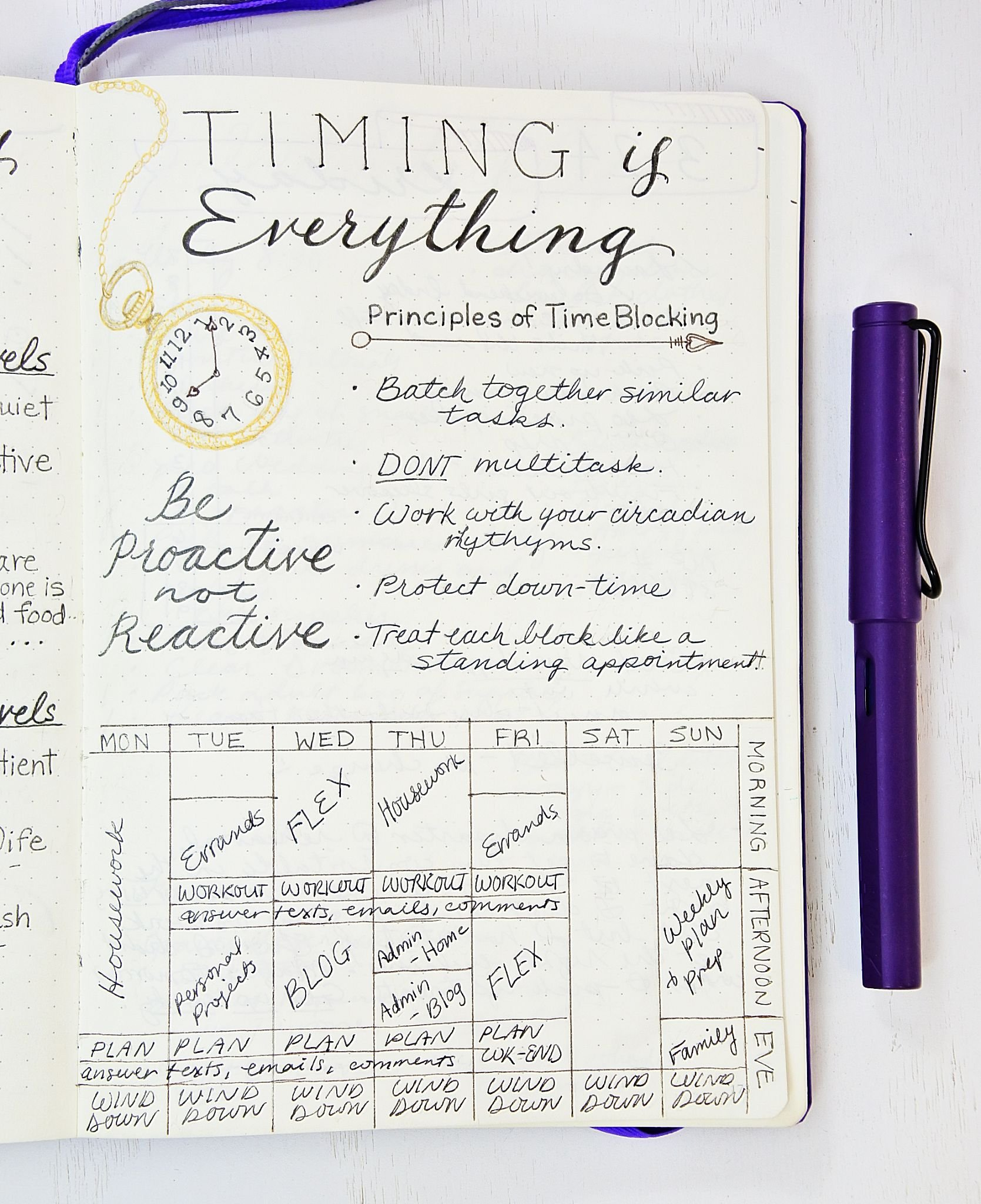How to start time blocking using a bullet journal!