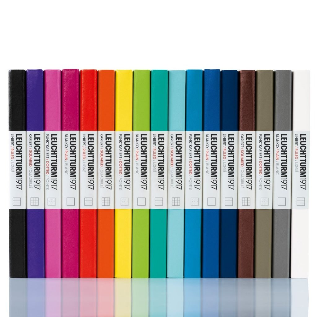 the many color choices of the leuchtturm1917 journal notebook