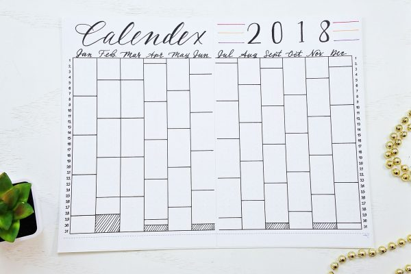 2018 calnedex, bullet journal
