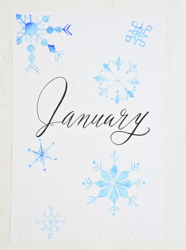 hello january printable