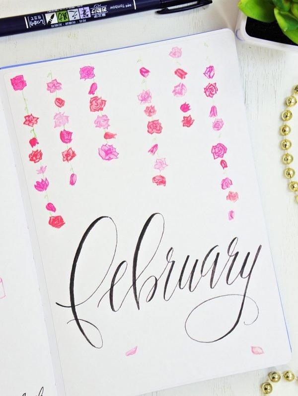 hello february bullet journal