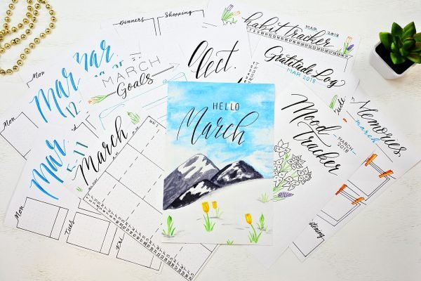 march bullet journal printables