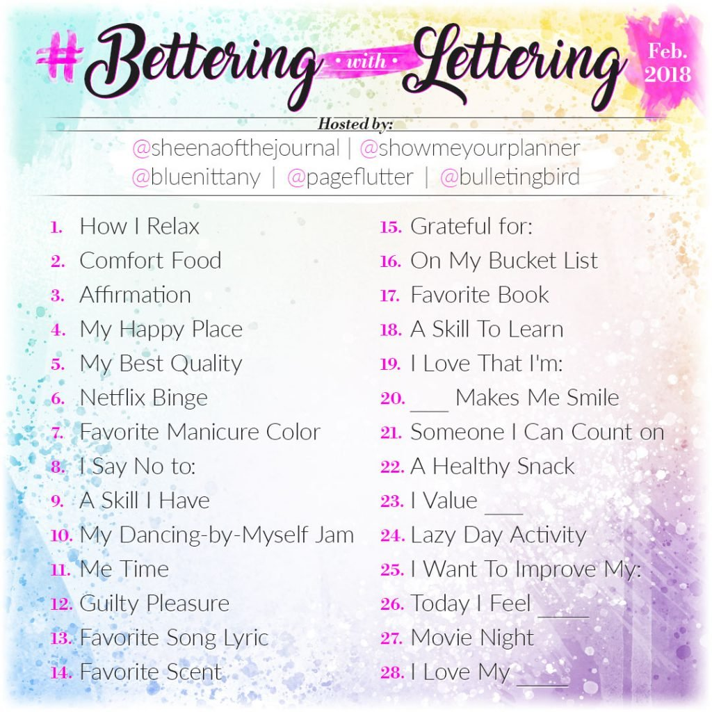hand lettering 30 day monthly challenge instagram