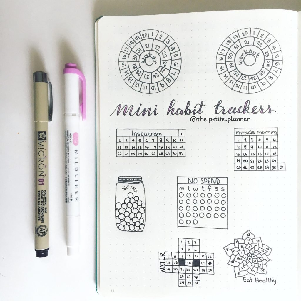 Mini Habit Trackers