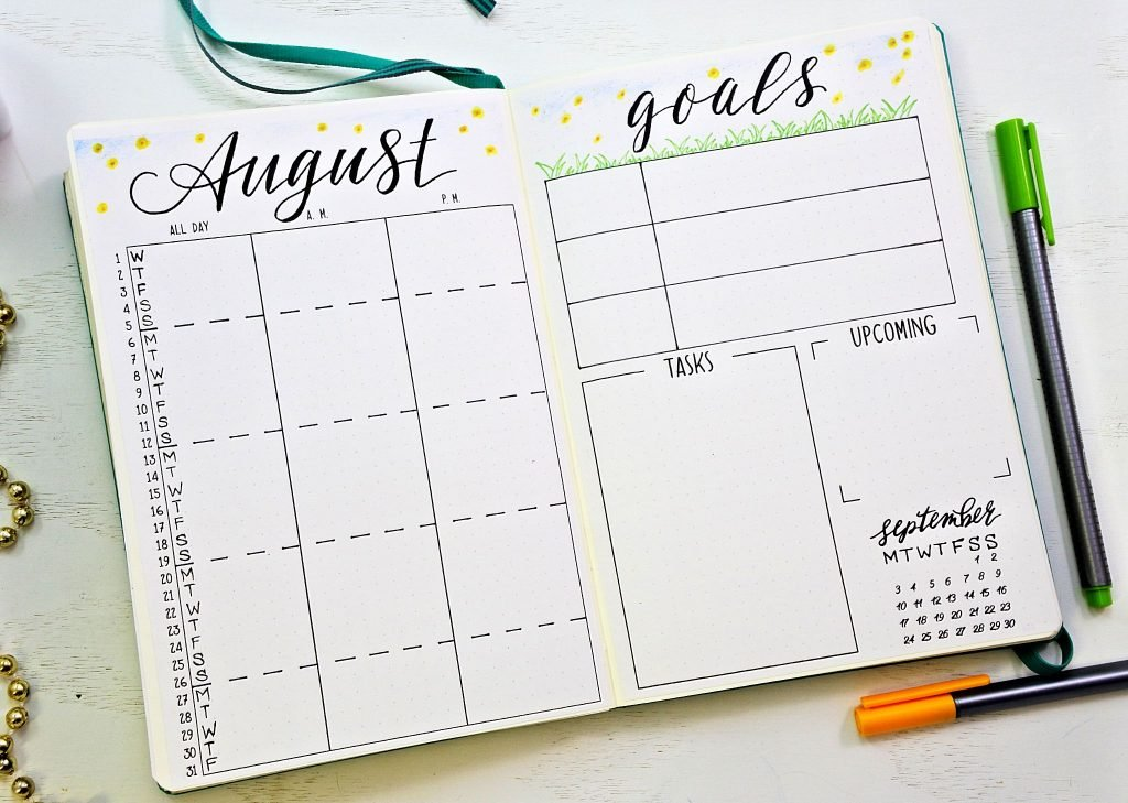 Printable calendars for your bullet journal