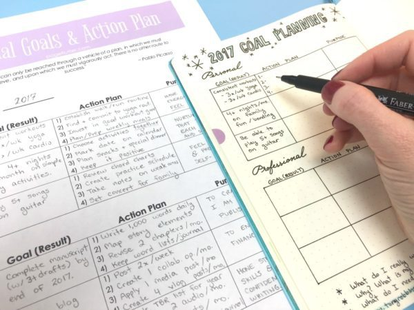 break down your goals into steps with a bullet journal