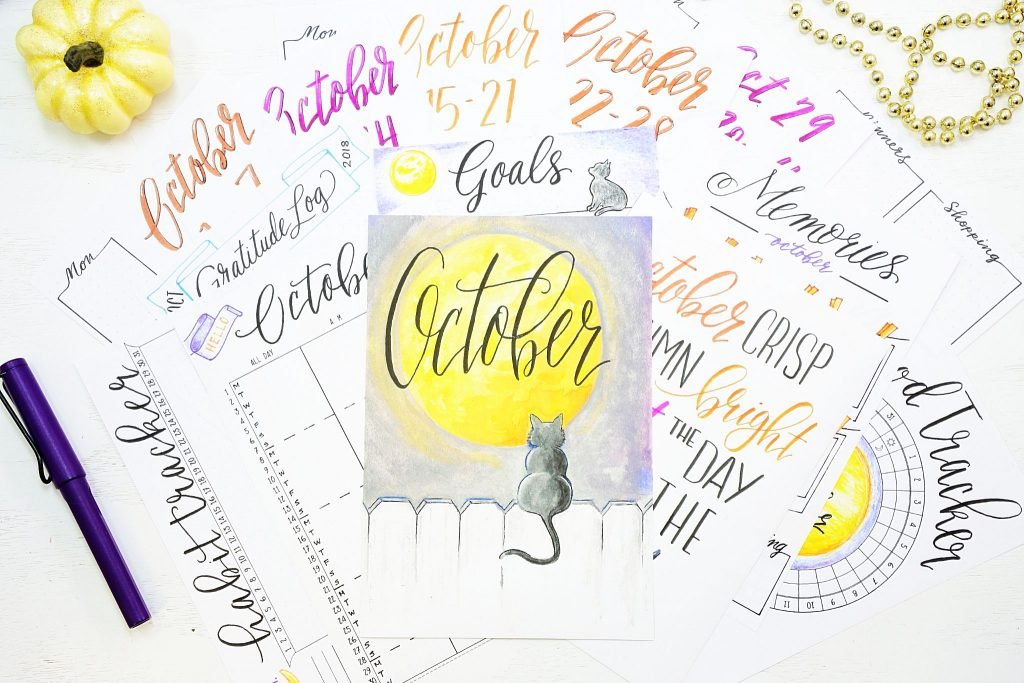 18 bullet journal printables for october!