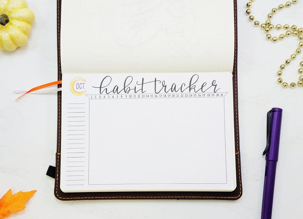 printable habit trackers for your bullet journal!