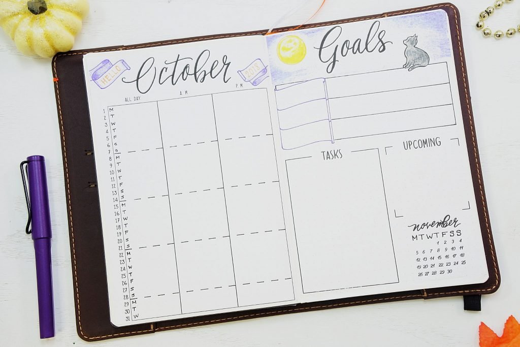 Printable October bullet journal setup!