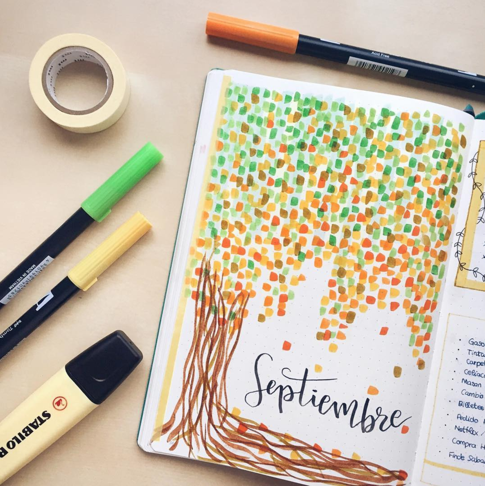 Amazing fall themed bullet journal cover pages!