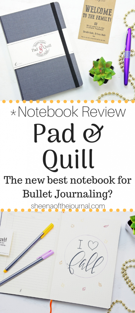 Pad and Quill dot grid notebooks. Best Bullet Journal notebooks ever?