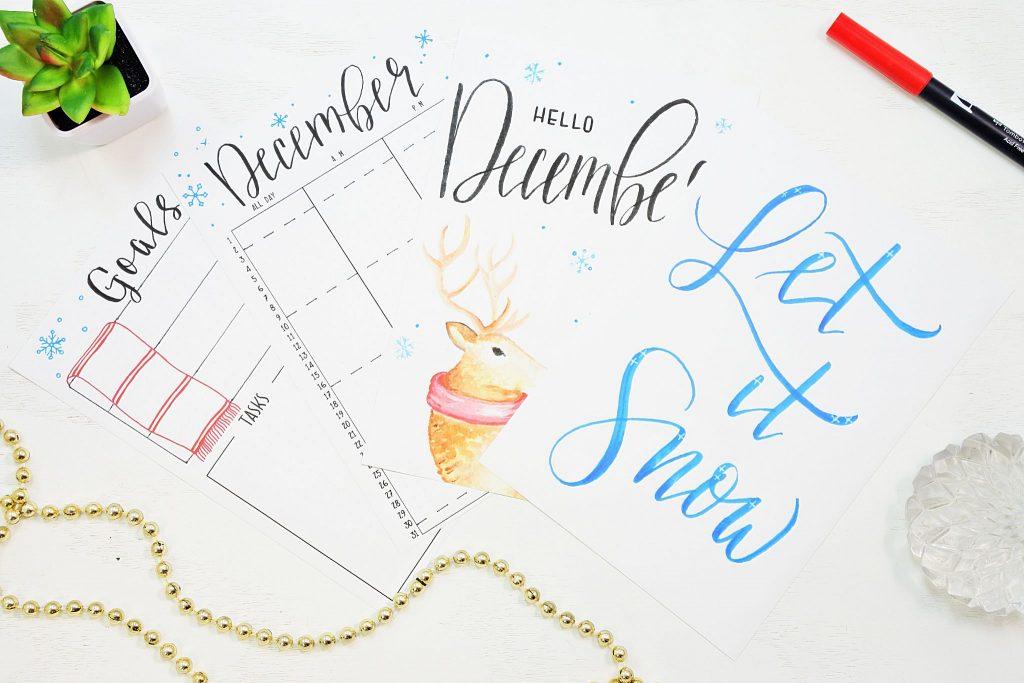 Free printable december bullet journal setup