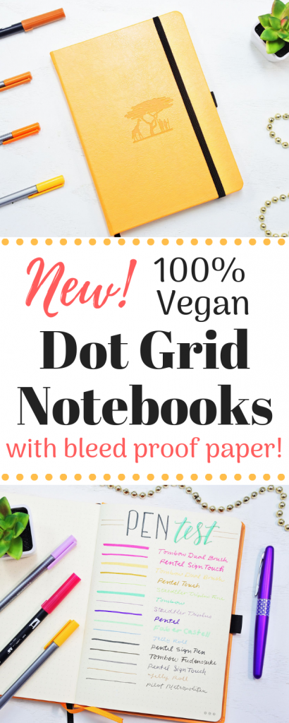 Amazing new dot grid notebooks with bleed proof paper!