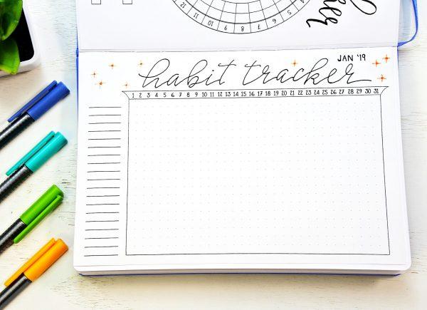 Bullet Journal Setup printable habit tracker