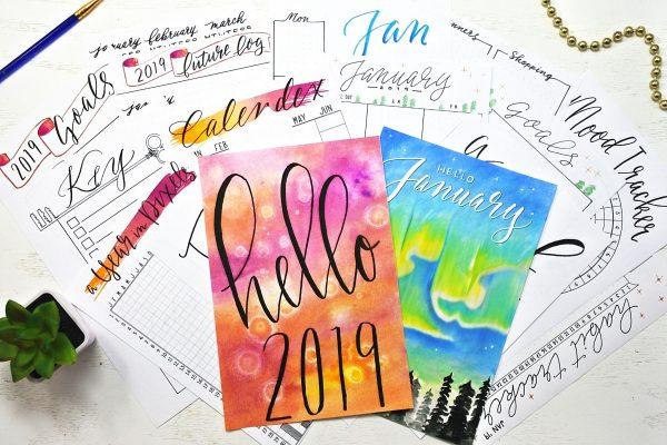 2019 bullet journal starter kit with 30 printables! The ultimate printable bullet journal setup!