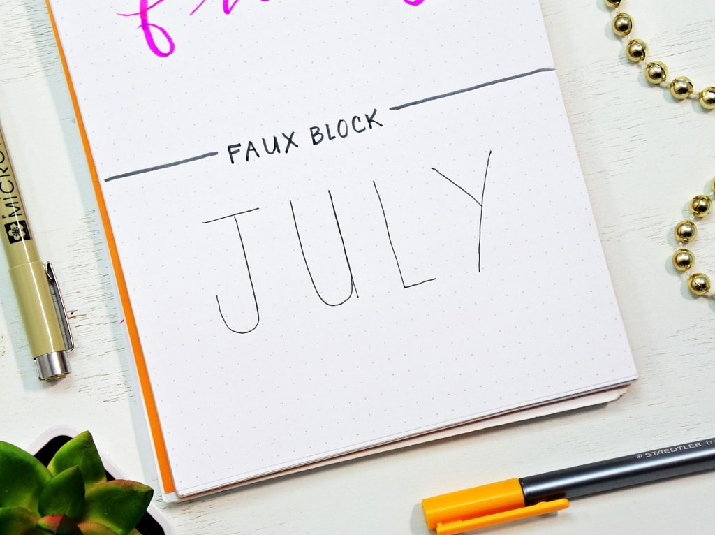 How to draw the faux block font in your bullet journal.