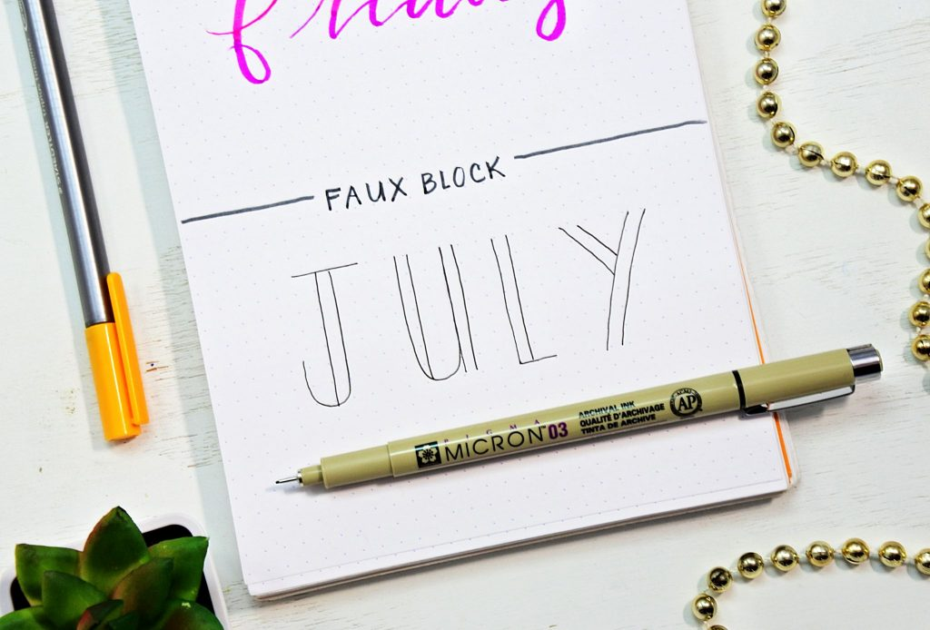 How to draw fancy bullet journal fonts.