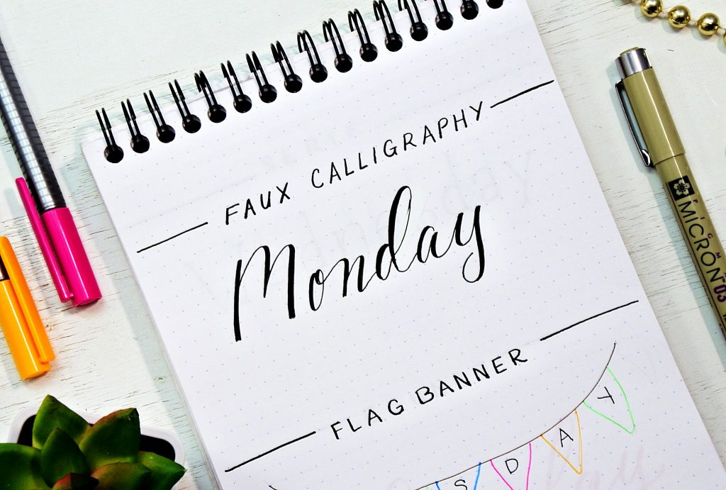 Step by step tutorial for creating faux calligrahphy.