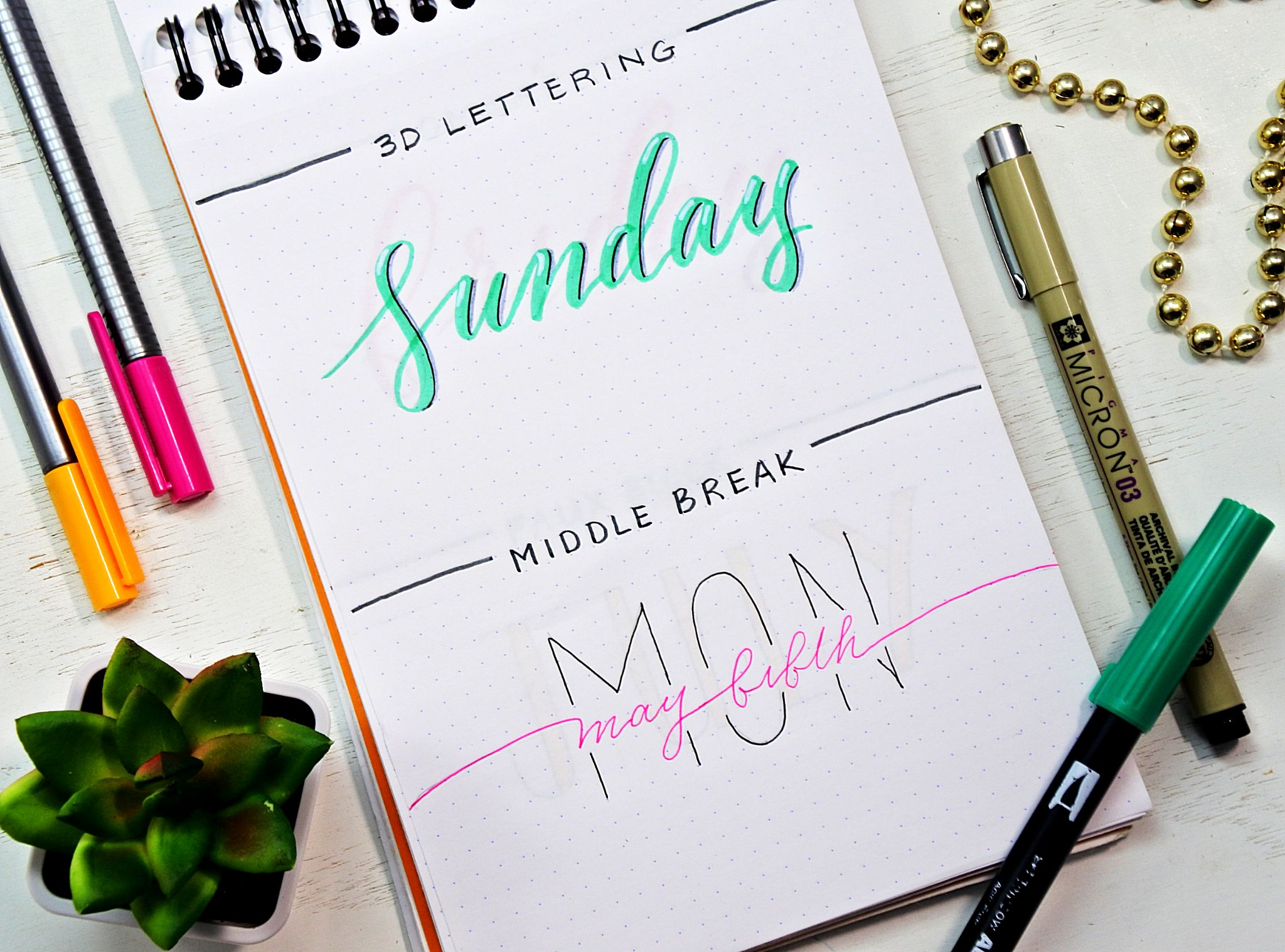 How to Draw easy bullet journal fonts.