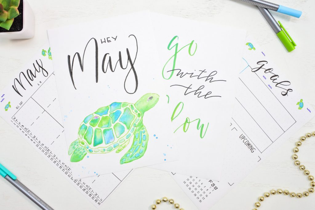 Free printable may cover page and calendar