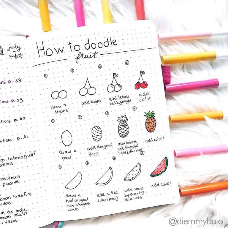 Easy summer doodles for your bullet journal
