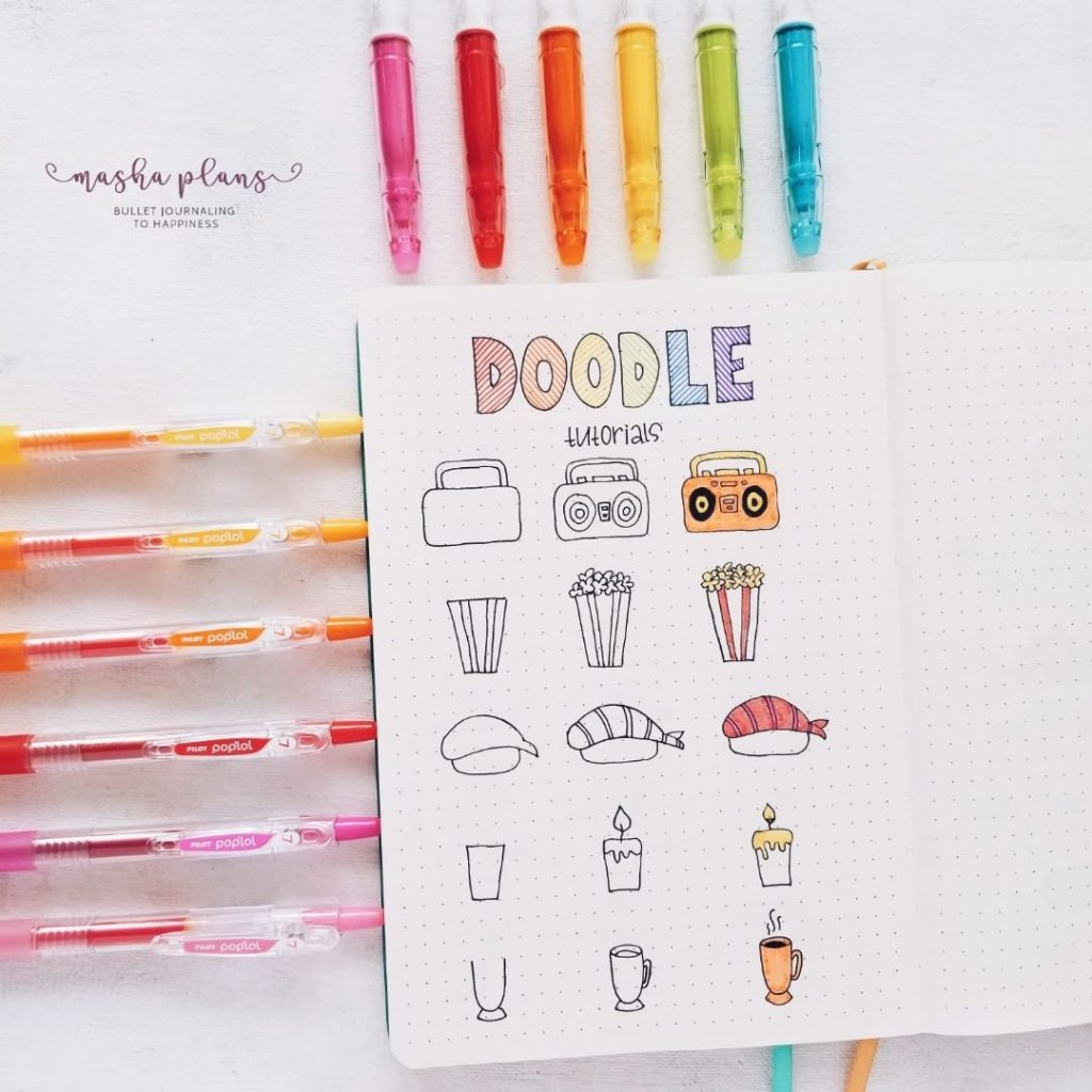 Bullet journal doodles how to doodle