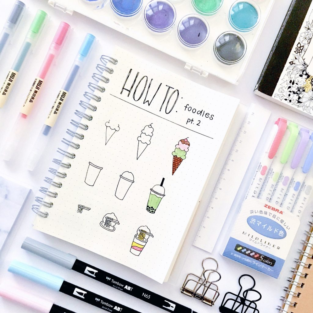 how to draw cute doodles for your bullet journal