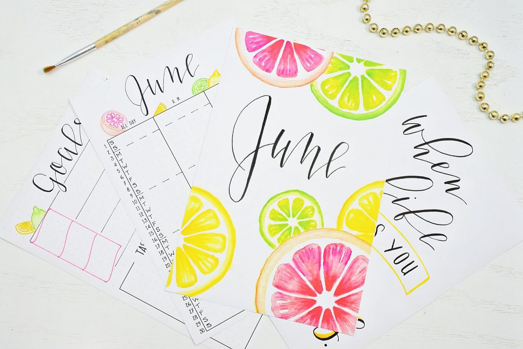 Free June 2021 BuJo Printable Pages
