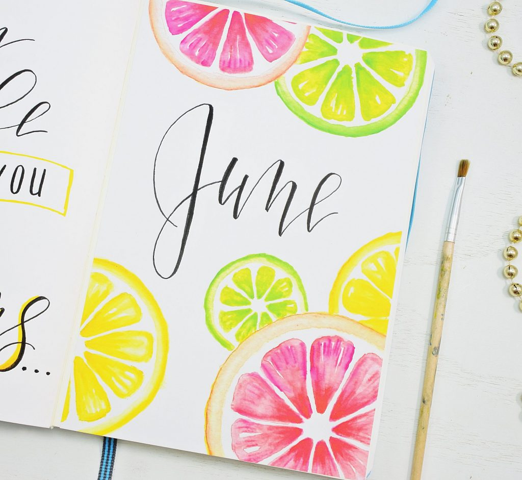 June 2021 Bullet Journal Cover Page