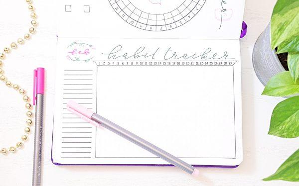 Bullet journal habit tracker.