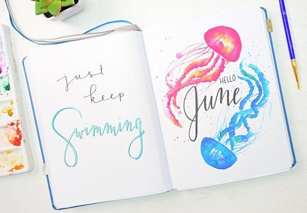 June bullet journal setup