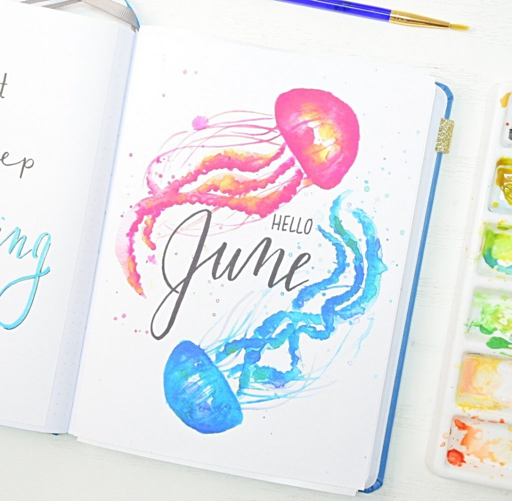June bullet journal cover page