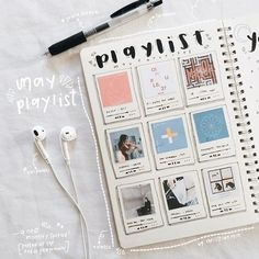 Bullet Journal Playlist Spread