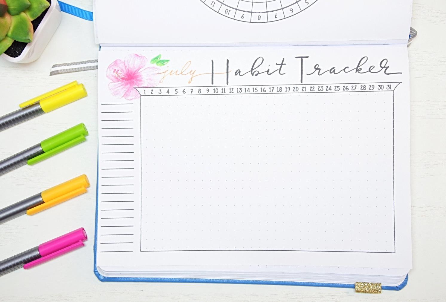 July Habit tracker