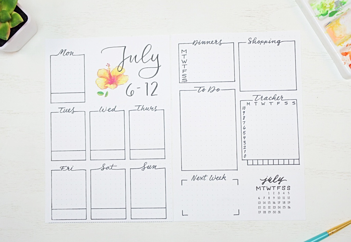 July weekly spread