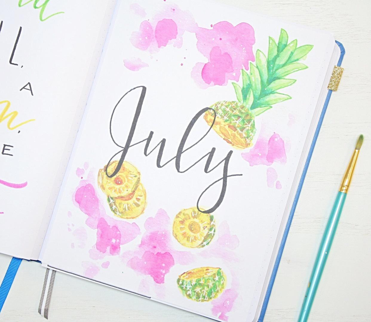 July Bullet Journal Setup 2020