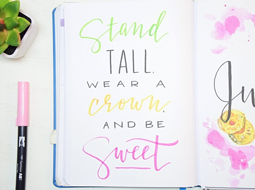 Bullet journal quote