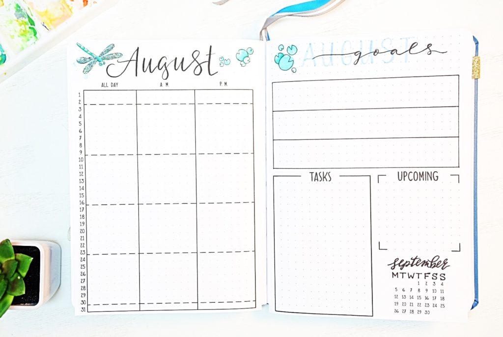 August Monthly Spread