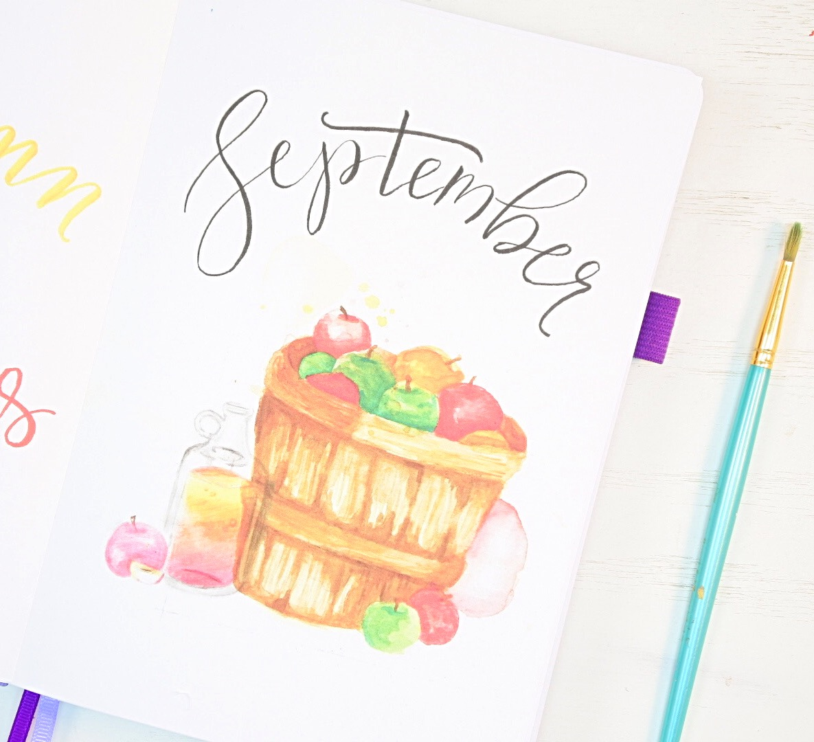 September cover page bullet journal
