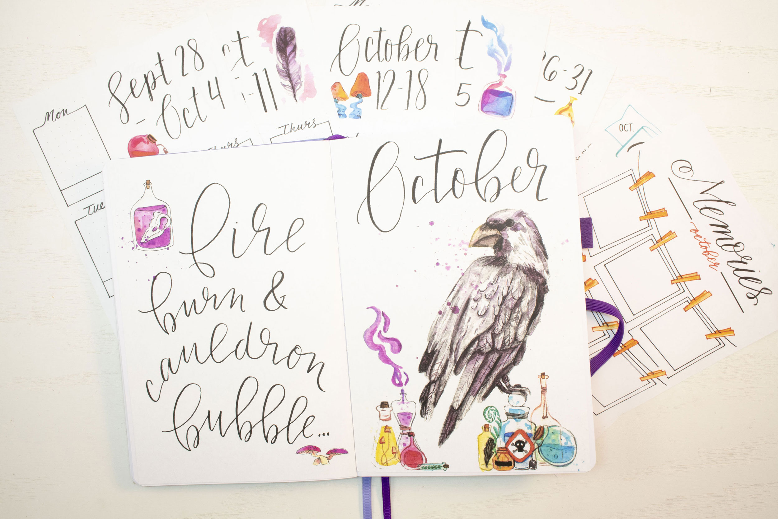 October 2020 Bullet Journal Printables