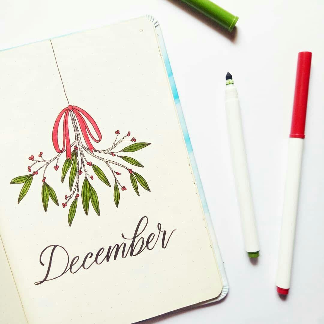 December bullet journal cover