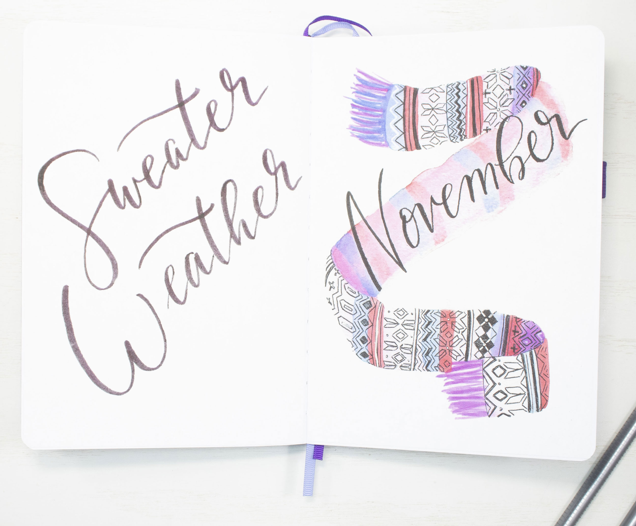 November 2020 Bullet Journal Cover Page and Quote