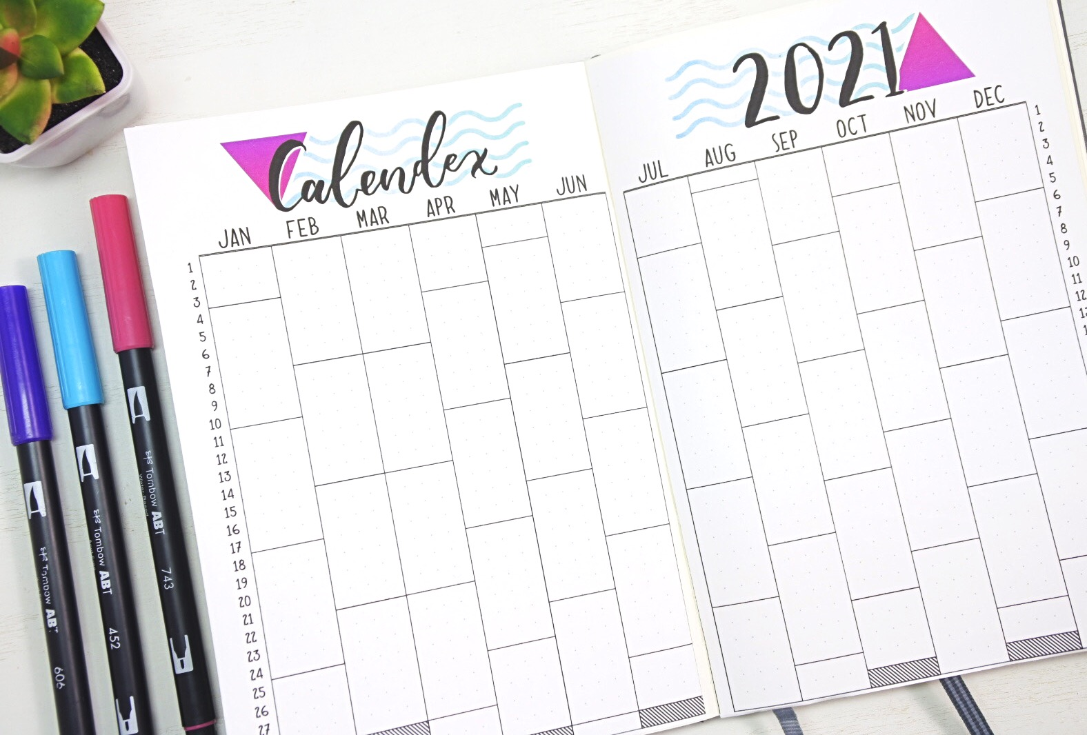 2021 bullet journal calendex