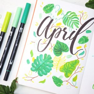 April 2021 Bullet Journal Welcome Page