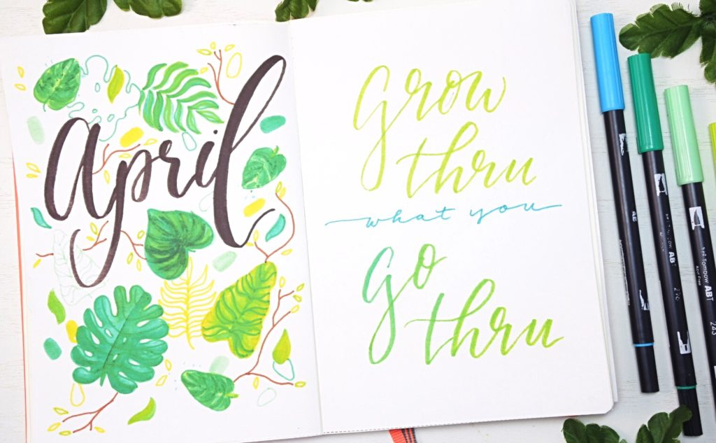 April 2021 Bullet Journal Welcome Page & Quote