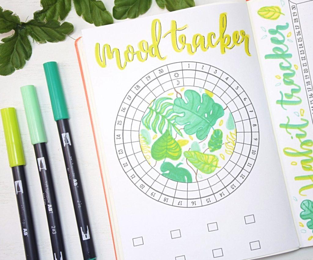 April 2021 Bullet Journal Mood Tracker