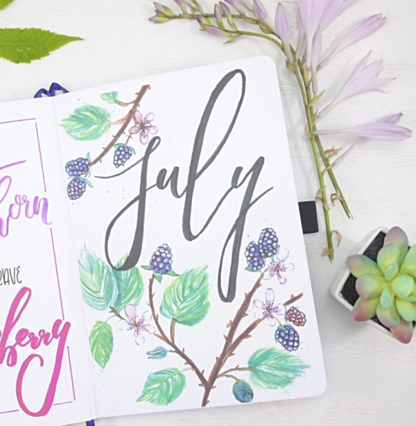 July 2021 Bullet Journal Hello Page