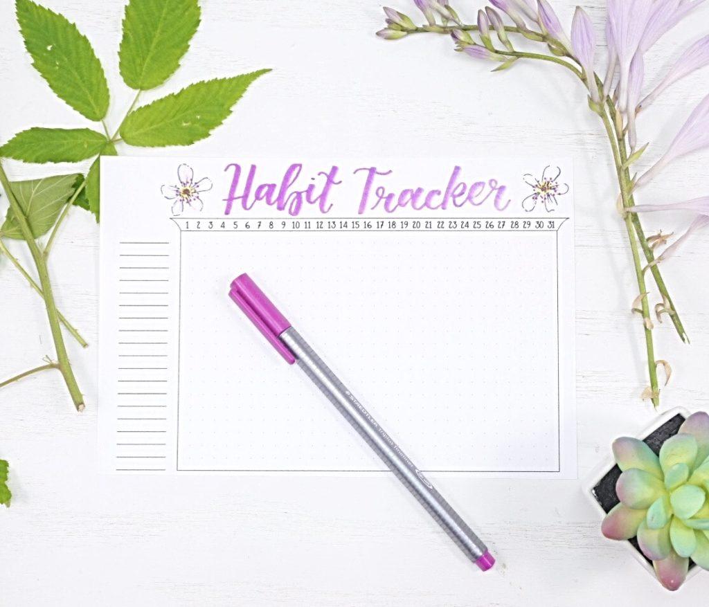 July 2021 Bullet Journal Habit Tracker